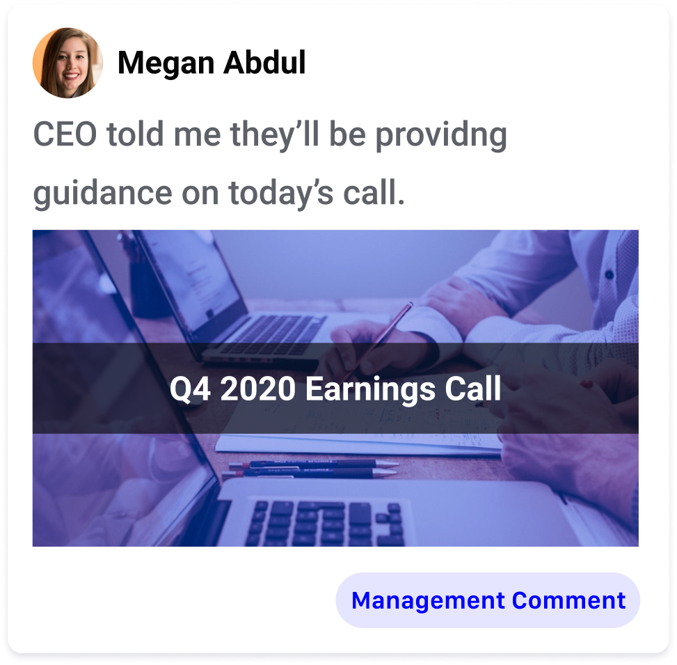 CEO told me...